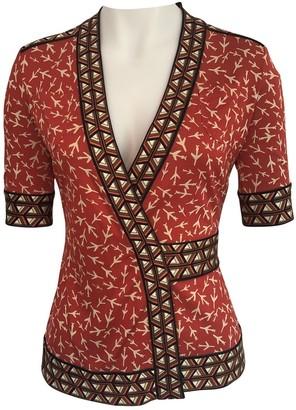 Diane von Furstenberg Red Silk Tops