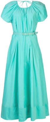 Nicholas Pleated Detail Belted Dress