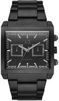Armani Exchange A|X Men's East-West Black Ion-Plated Stainless Steel Bracelet Watch 43x43mm AX2222
