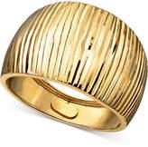 Macy's 14k Gold Ring, Diamond Cut Cigar Band