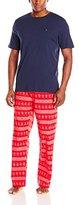 Tommy Hilfiger Men's Navy Short-Sleeve Crew-Neck and Poplin Pant Gift Set