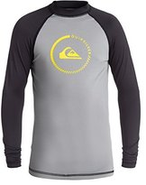 Quiksilver Baby Boys Lock Up - Long Sleeve Rash Vest Rashguard Grey Xs