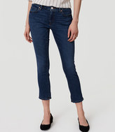 LOFT Curvy Skinny Crop Jeans in Pure Dark Indigo Wash