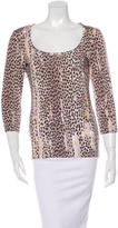 Just Cavalli Cheetah Print Long Sleeve Top