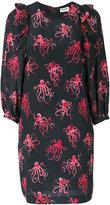 Essentiel Antwerp octopus embroidered shift dress