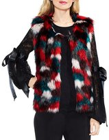 Vince Camuto Multi-color Faux Fur Vest