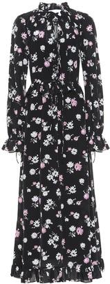 Les Rãaveries Floral silk maxi dress