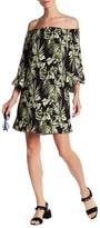 Bobeau Floral Ruffle Sleeve Dress