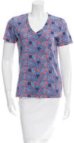 Tory Burch Printed V-Neck Top
