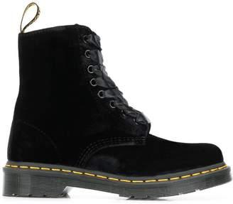 Dr. Martens velvet combat boots