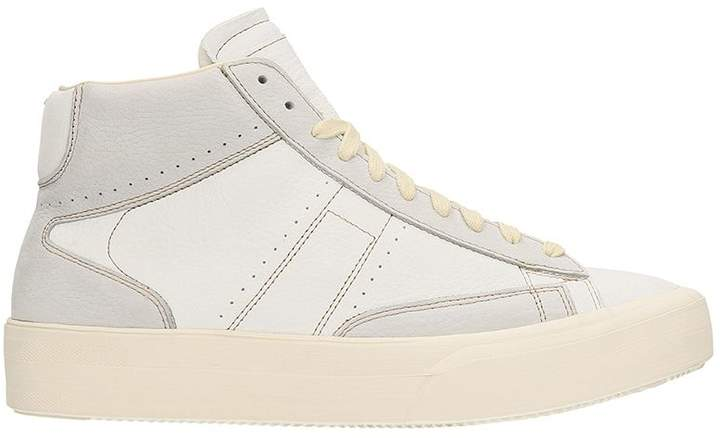 Maison Margiela Mid Patchwork White/grey Leather Sneakers