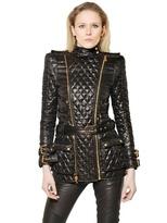 Balmain Long Quilted Perfecto Jacket