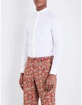 Armani Collezioni Regular-fit Madarin-collar Cotton Shirt