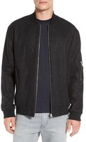 French Connection Men's 'Sweat 2 Melton' Wool Blend Bomber Jacket