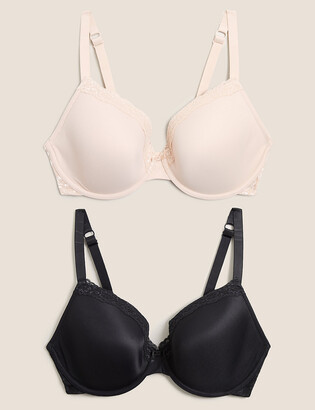 Marks and Spencer 2pk Underwired Plunge Bras F-H