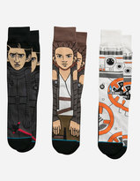 Stance x STAR WARS The Force Awakens 3 Pack Mens Socks
