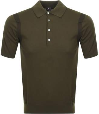 Paul Smith Knitted Polo T Shirt Green