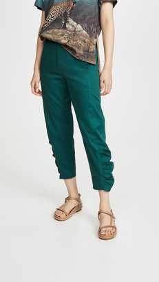Tibi Ruched Pants