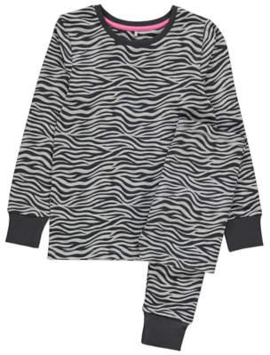George Grey Zebra Print Pyjamas