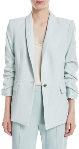 Alice + Olivia Sebastian Shawl-Collar One-Button Blazer