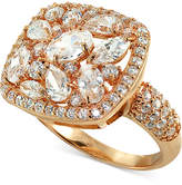 Giani Bernini Cubic Zirconia Cluster Ring in 18k Rose Gold-Plated/Sterling Silver, Created for Macy's