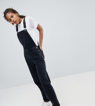 Asos Tall ASOS DESIGN Tall denim dungaree in washed black