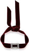 Fallon Toria Buckle Velvet Choker in Bordeaux