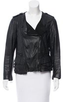 3.1 Phillip Lim Ruffle-Trimmed Leather Jacket