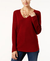 INC International Concepts High-Low Waffle-Knit Sweater, Only at Macy's