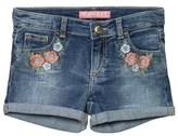 GUESS Blue Floral Applique Denim Shorts