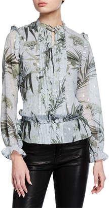 Ted Baker Tibbine Pintucked Long-Sleeve Top
