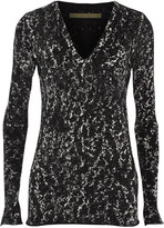 Enza Costa Printed cotton and cashmere-blend sweater