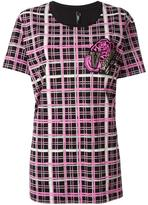 Versus checked T-shirt - women - Cotton - XS
