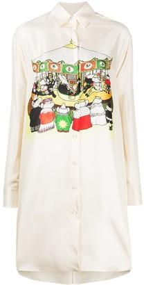 Lanvin Babar carousel loose shirt