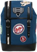 Bally Canvas Backpack W/ Patches