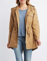 Charlotte Russe Hooded Flap Pocket Anorak