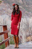 Shabby Apple Red Sleigh Bell Sheath Dress