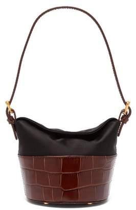 BY FAR Jamie Mini Crocodile-embossed Leather Bag - Womens - Brown Multi