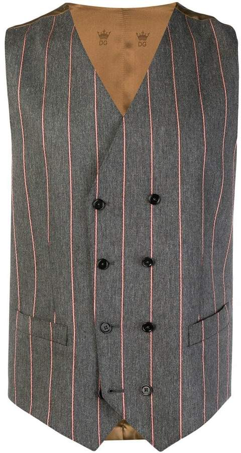 Dolce & Gabbana pinstripe double breasted waistcoat