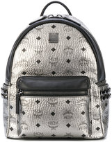 MCM metallic (Grey) studded backpack