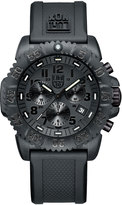 Luminox 44mm Navy SEAL 3080 Series Colormark Chronograph Watch, Black
