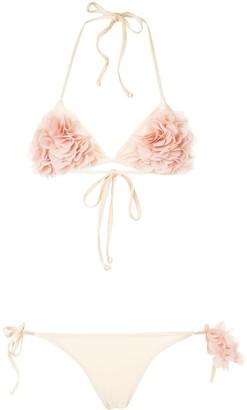 La Reveche Shayna floral applique bikini