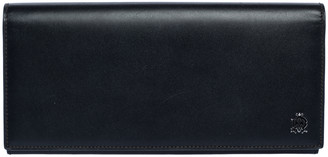 Dunhill Black Leather Flap Long Wallet