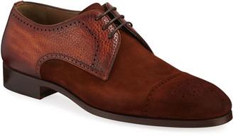 Magnanni Men's Brogue Suede/Leather Derby Shoes