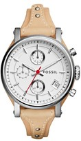 Fossil Women's Original Boyfriend Leather Strap Watch, 38Mm