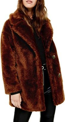 Topshop Faux Fur Coat