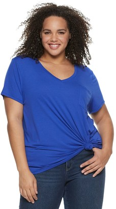 So Juniors' Plus Size SO Relaxed Pocket Tee