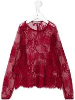 Ermanno Scervino sheer floral lace blouse