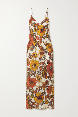 Dodo Bar Or Corinna Floral-print Silk-jacquard Midi Dress - Brown