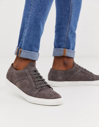 Redfoot suede plimsoll in grey